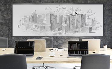 Plakat do biura panorama miasta