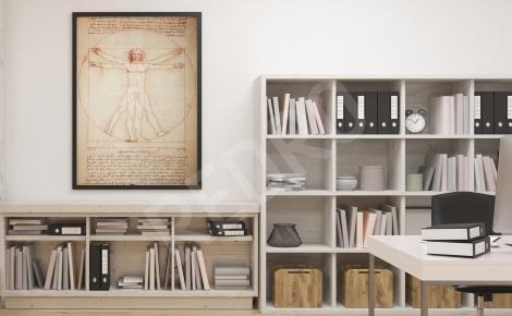 Plakat do biura rysunek Leonardo da Vinci