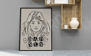 Plakat do damskiego salonu fryzjerskiego
