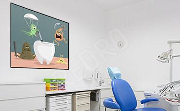 Plakat do dentysty dla dzieci