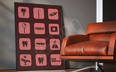 Plakat do dentysty ikony