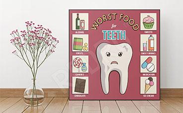 Plakat do dentysty infografika