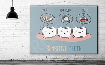 Plakat do dentysty informacyjny