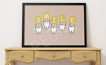 Plakat do dentysty uśmiech