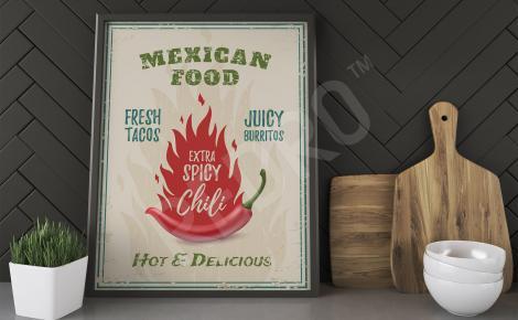 Plakat do kuchni chili