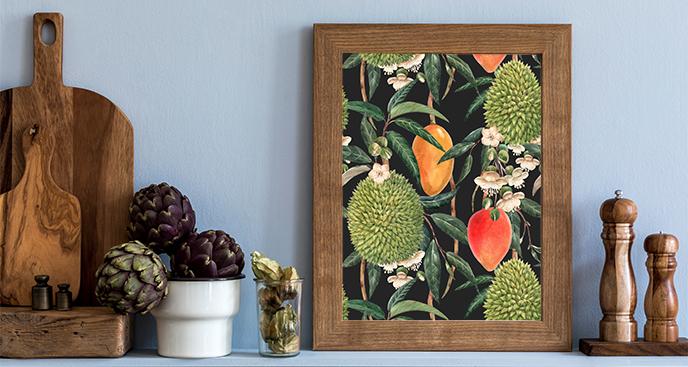 Plakat do kuchni – egzotyczne owoce
