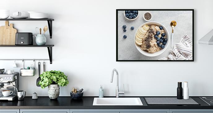 Kuchenny plakat z napisami