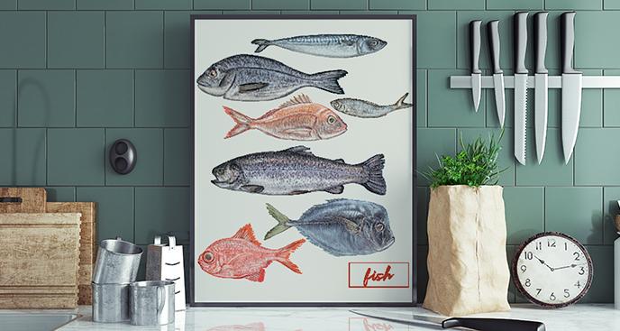 Plakat do kuchni – ryby