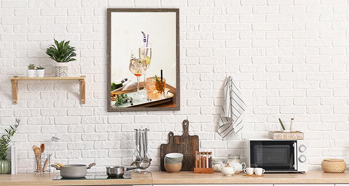Plakat do kuchni z napojami