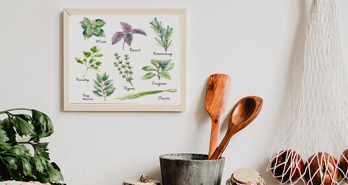 Plakat do kuchni – zioła