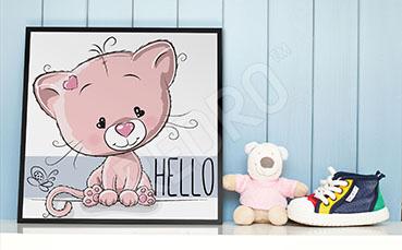 Plakat do pokoju dziecięcego z kotkiem