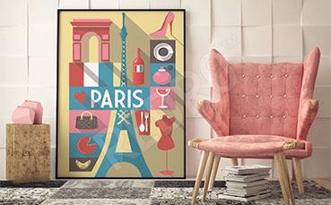 Plakat do pokoju dziecka Paryż