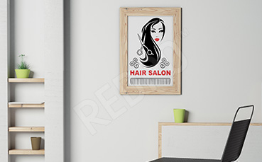 Plakat do salonu fryzjerskiego fryzura
