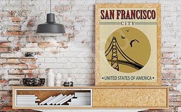 Plakat do salonu z kalifornijskim mostem