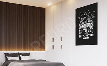 Plakat do sypialni czarno-biały