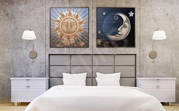 Plakat do sypialni Księżyc i Słońce