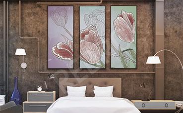 Plakat do sypialni kwiaty