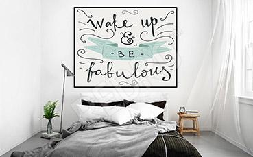 Plakat do sypialni napisy