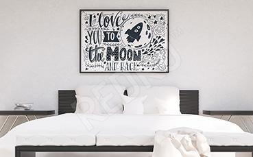 Plakat do sypialni statek kosmiczny