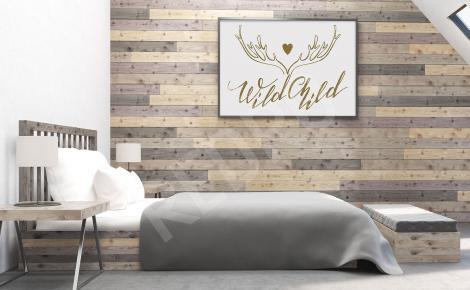 Plakat do sypialni styl skandynawski
