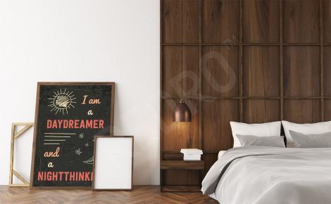 Plakat do sypialni typograficzny