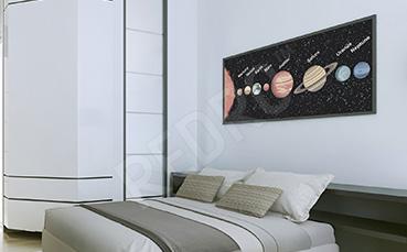 Plakat do sypialni Układ Słoneczny