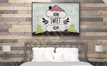 Plakat do sypialni z napisami