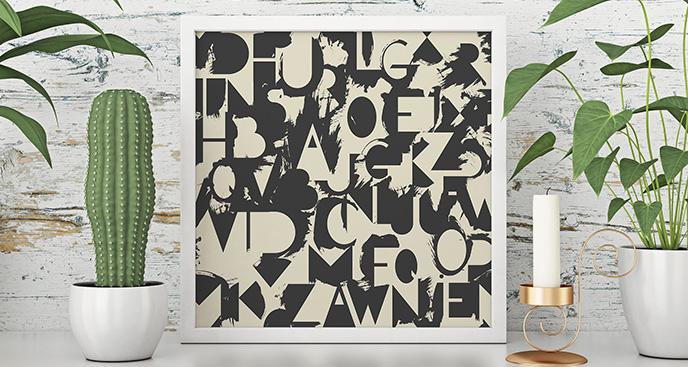 Plakat drukowane litery