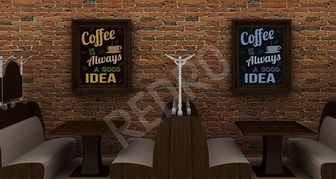Plakat dyptyk z kawą