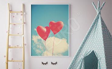 Plakat dziecięcy baloniki vintage