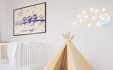 Plakat dziecięcy z sowami