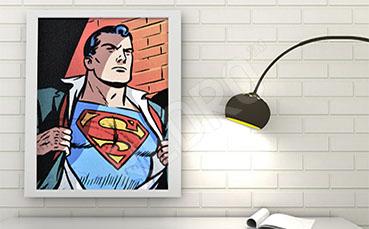 Plakat dziecięcy z Supermanem