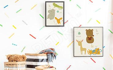Plakat dziecięcy ze zwierzątkami