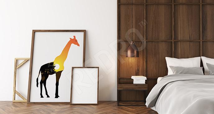 Plakat egzotyczny ssak