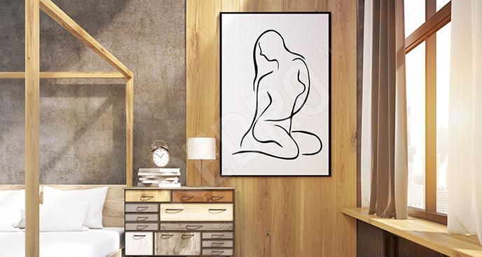 Plakat erotyczny szkic