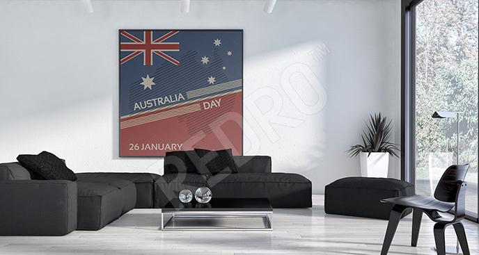 Plakat flaga Australii