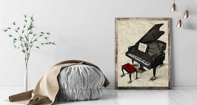 Plakat fortepian do salonu