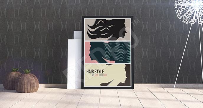 Plakat fryzjerski dla kobiet