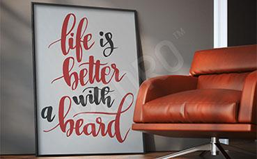 Plakat fryzjerski typografia