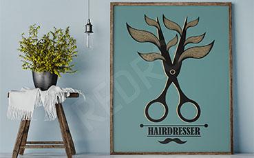 Plakat fryzjerski vintage