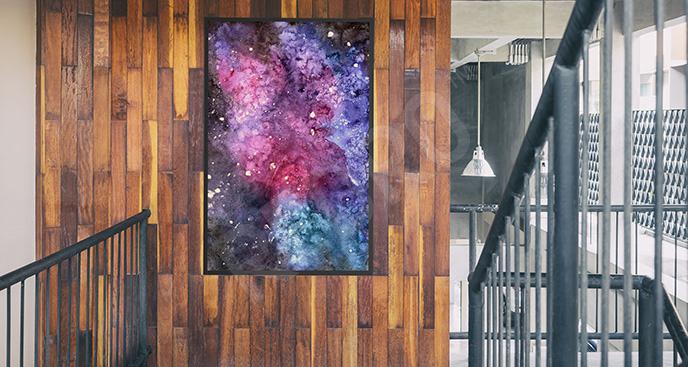 Plakat galaktyka abstrakcyjna