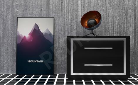 Plakat góra minimalistyczna