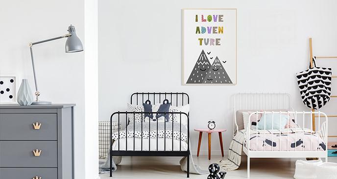 Plakat góry do pokoju dziecka