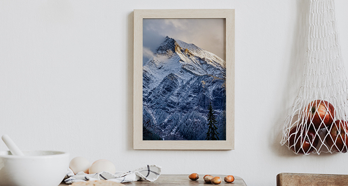 Plakat góry w Kanadzie