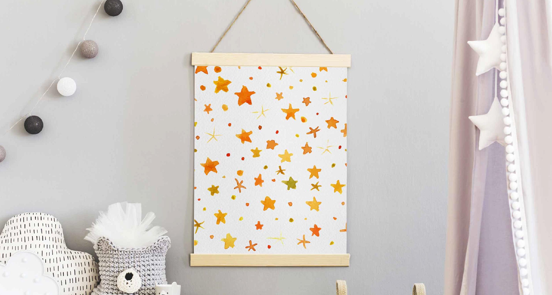Plakat gwiazdy w akwareli