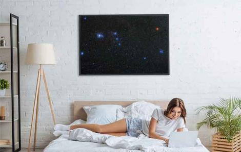 Plakat gwiazdy w gwiazdozbiorze Oriona