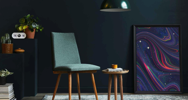 Plakat gwiazdy w kolorze