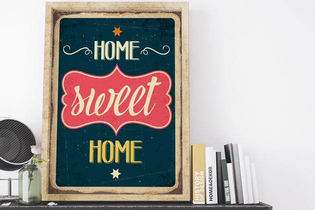 Plakat - Home sweet home