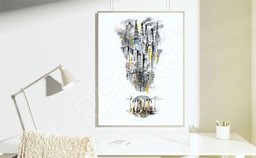 Plakat ilustracja miasta