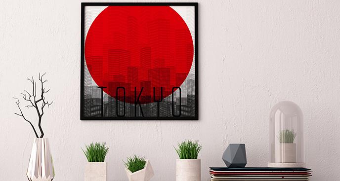 Plakat inspiracja japońska